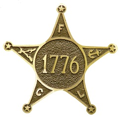 War of 1776 Bronze Grave Marker