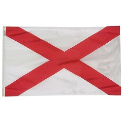 5' X 8' Polyester Alabama State Flag