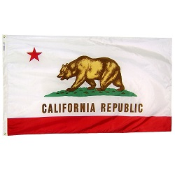 5' X 8' Polyester California State Flag