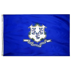 "12"" X 18"" Nylon Connecticut State Flag"
