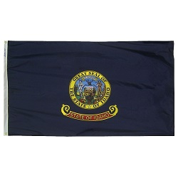 "12"" X 18"" Nylon Idaho State Flag"
