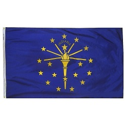 5' X 8' Polyester Indiana State Flag