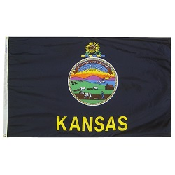 4' X 6' Nylon Kansas State Flag