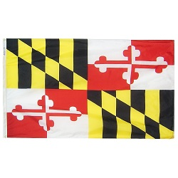 4' X 6' Polyester Maryland State Flag