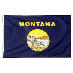 5' X 8' Polyester Montana State Flag