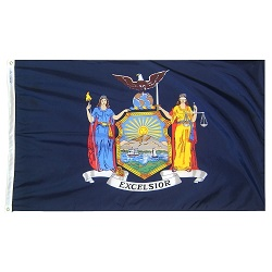 3' X 5' Polyester New York State Flag