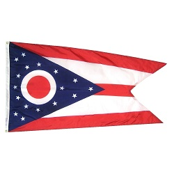 5' X 8' Polyester Ohio State Flag