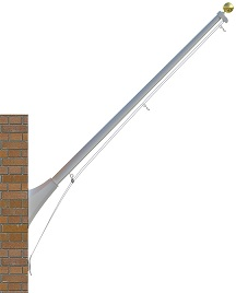 20' Continental Outrigger Mount Flagpoles