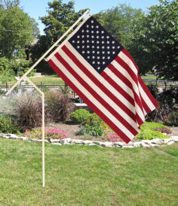 PVC flagpole for camping, tailgating or yard