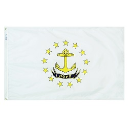 4' X 6' Polyester Rhode Island State Flag