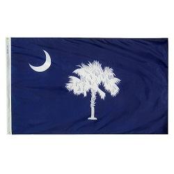 5' X 8' Polyester South Carolina State Flag