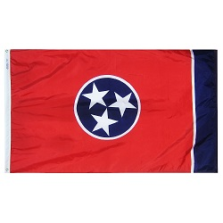 5' X 8' Nylon Tennessee State Flag