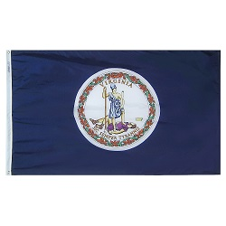 5' X 8' Polyester Virginia State Flag