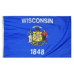 5' X 8' Polyester Wisconsin State Flag