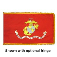 3' X 5' Indoor Nylon Marine Corps Flag