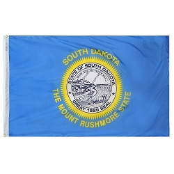 "12"" X 18"" Nylon South Dakota State Flag"